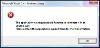 Click image for larger version  Name:MS Vis C runtime lib error.png Views:1016 Size:23.0 KB ID:50688